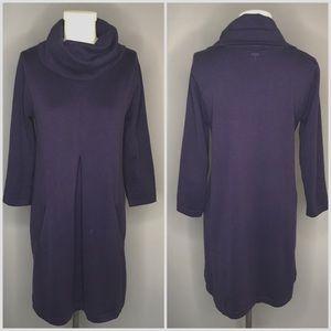 Tyler Böe Purple Cashmere Blend Cowl Neck Dress